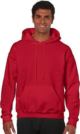 Gildan Mens HeavyBlend Hooded Sweatshirt Red