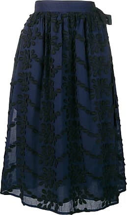 Vanessa Bruno floral embroidery skirt - Azul