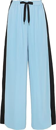 Roland Mouret Haven Striped Plissé-jersey Wide-leg Pants - Blue