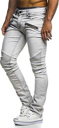 LEIF NELSON Mens Jeans Trousers Pants LN-273 Light Grey W40/L30