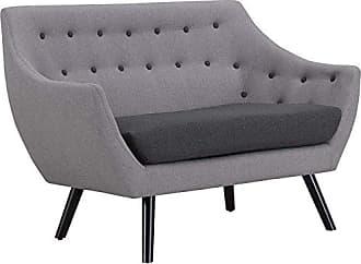 ModWay Modway Allegory Mid-Century Modern Upholstered Loveseat in Light Gray