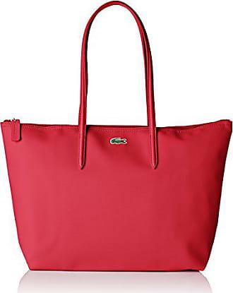 Lacoste Sac Cabas Toile PVC Femme, Bandouliere (Rose Virtual Pink), 14x29. d084bc33f0d