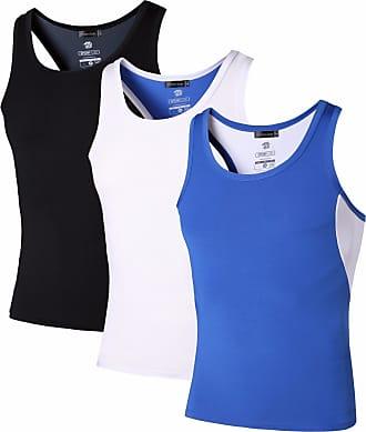 Jeansian Mens 3 Packs Sport Quick Dry Compression Tank Tops Vests Shirt LSL203 PackB XL