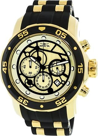 Invicta Pro Diver Chronograph Gold Dial Mens Watch 25709