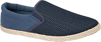 Urban Jacks Mens Canvas Slip On Espadrille Plimsoll Casual Rope Pumps Loafer Deck Trainers Shoes Size 7-12 (8 UK, Navy)