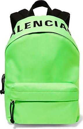 Balenciaga Wheel Neon Embroidered Shell Backpack - Green