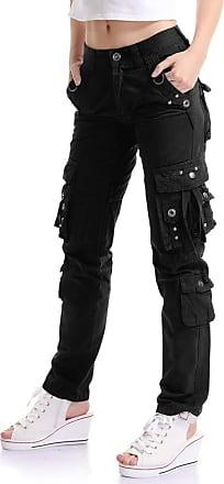 OCHENTA Women Workwear Uniform Combat Cargo 8 Pockets Security Trousers Black Lable 32-UK 13