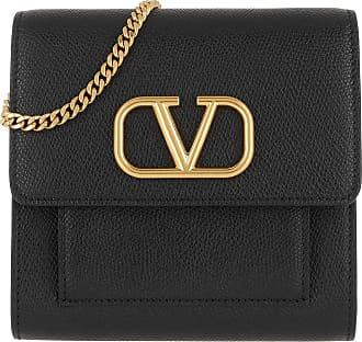 Valentino Cross Body Bags - V Logo Crossbody Bag Small Leather Black - black - Cross Body Bags for ladies