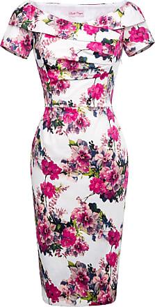 Belle Poque Wommen Retro Short Sleeve Pencil Dress Size 8 BP0117-10