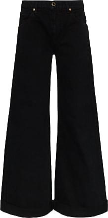 Khaite Calça jeans pantalona Noelle - Preto