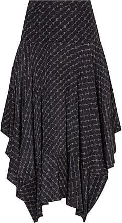 9e115f737 Stella McCartney Asymmetric Printed Silk Midi Skirt - Navy