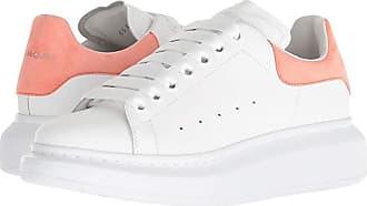 Alexander McQueen Oversized Sneaker (White/Peach) Womens Shoes