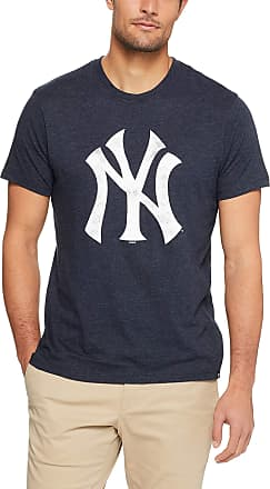 47 Brand 47 MLB New York Yankees Knockaround Club Tee - 70% Cotton 30% Polyester Crew Neck Distressed Style Print Officially Licensed T Shirt Premium Quality D
