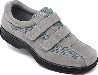 Chums Mens Shoe Wide Fit Touch Fasten with Gel Pad Grey 11 UK