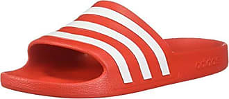 4f581aa23 adidas Unisex Adilette Aqua Sport Sandals, Active Red/Footwear White/Active  Red,