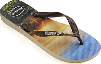 Havaianas Mens HAV Hype Blue Sky Flip-Flop, Gray (Steel Gray/White/White), 9 Child UK