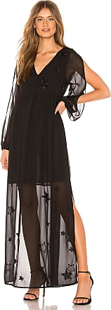 Chaser Beaded Star Maxi Dress in Black