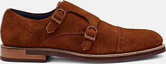 Ted Baker Double Buckle Monk Shoe in Tan CLINNTE, Mens Accessories