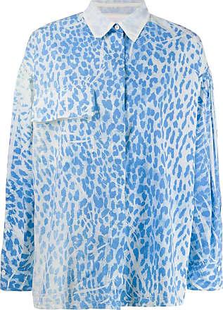 8pm leopard print shirt - Blue