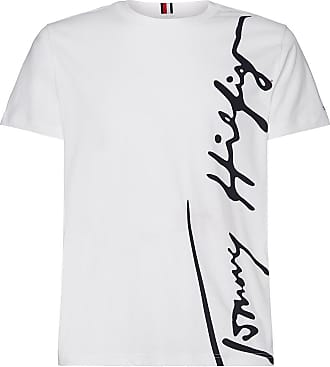 Tommy Hilfiger T-Shirt TH Cool Large Signature - WEISS - TOMMY HILFIGER