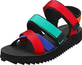 Tommy Jeans Logo Strap Mens Fashion Sandals in Black Multicolour - 10.5 UK