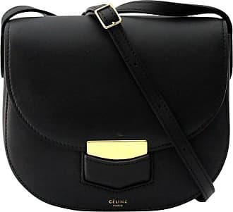 Celine Cèline Small Trotteur Black Leather Crossbody Bag 044288bb93f8c