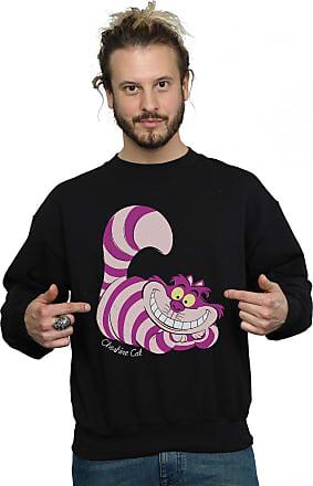 Disney Mens Alice in Wonderland Cheshire Cat Sweatshirt Medium Black