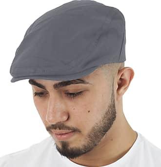 TOSKATOK Mens Brushed Cotton Flat Cap-Grey
