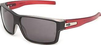 HB Óculos de Sol Hb Big Vert 9010966700/65 Preto Fosco com Vermelho