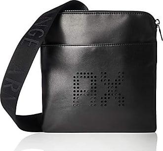 9ae65abaac352d Armani Perforated Leather - Borsa Messenger Uomo, Nero (Black), 20x13x26 cm  (