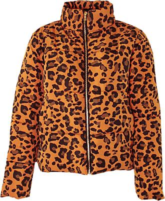 Love my Fashions Khushi Leopard Print Padded Jacket Peach