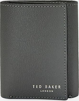 Ted Baker Printed Leather Trifold Wallet in Charcoal GONNOR, Mens Accessories