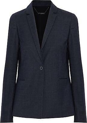 Elie Tahari Elie Tahari Woman Darcy Wool-blend Twill Blazer Storm Blue Size 2