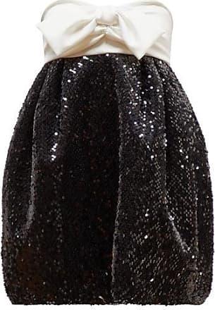 Alexandre Vauthier Bow-embellished Sequinned Dress - Womens - Black White