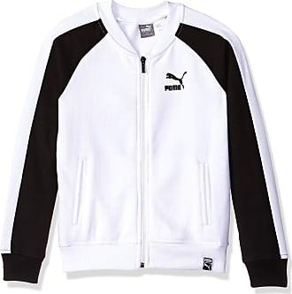 b72a915bdd1f Puma Girls Fleece Track Jacket White