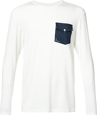 United Rivers denim pocket T-shirt - Branco