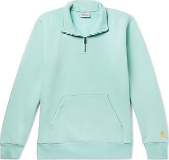 Carhartt Work in Progress Chase Fleece-back Cotton-blend Jersey Half-zip Sweatshirt - Mint
