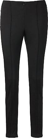 Madeleine Hose mit Saumfalten in schwarz MADELEINE Gr 17 für Damen. Baumwolle, Elasthan, Polyester. Waschbar