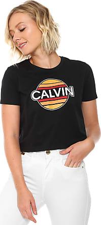 Calvin Klein Jeans Camiseta Calvin Klein Jeans Cropped Sunny Preta