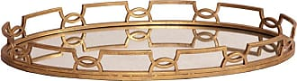 Elizabeth Austin Milan Bright Gold Metal Tray - 11222