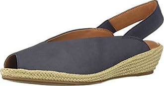 Gentle Souls Womens Luci Slingback Espadrille Wedge Sandal, Navy 9.5 M US
