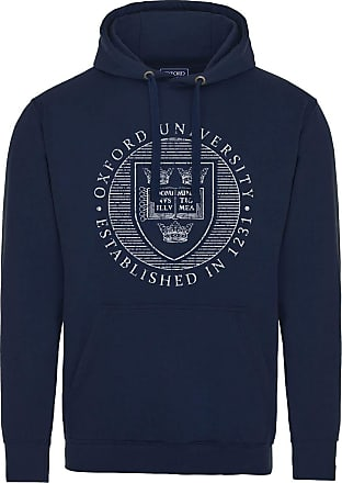 Oxford University Official Distressed Crest Hoodie - Navy - XX Large