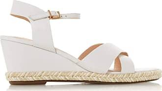 Dune London Dune Ladies Womens KIWII Espadrille Trim Wedge Heel Sandals Size UK 4 White Wedge Heel Espadrilles