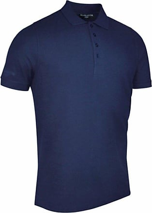 Glenmuir Mens Classic Fit Pique Polo Shirt Navy M
