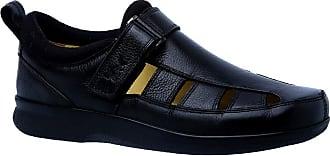 Doctor Shoes Antistaffa Sandália Masculina Diabético em Couro Preto Floater 3059 Doctor Shoes-Preto-44