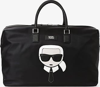 Karl Lagerfeld Reisetasche mit Leder-Anteil schwarz
