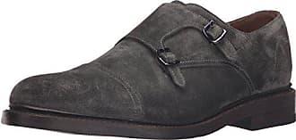 Frye Mens Jones Double Monk Slip-On Loafer, Charcoal, 11.5M