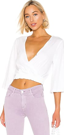 BCBGeneration Surplice Knit Top in White