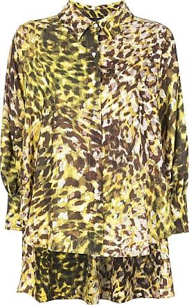 Natori Camisa com estampa de leopardo - Amarelo