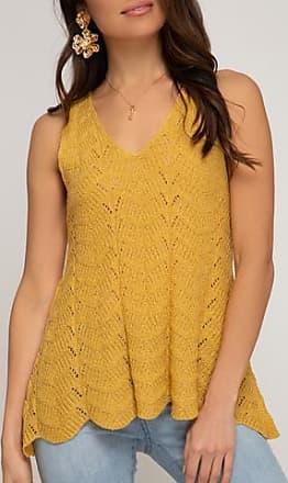 She + Sky Crochet Sweater Tank